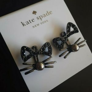 New! Kate Spade Out West Pave Cat Earrings